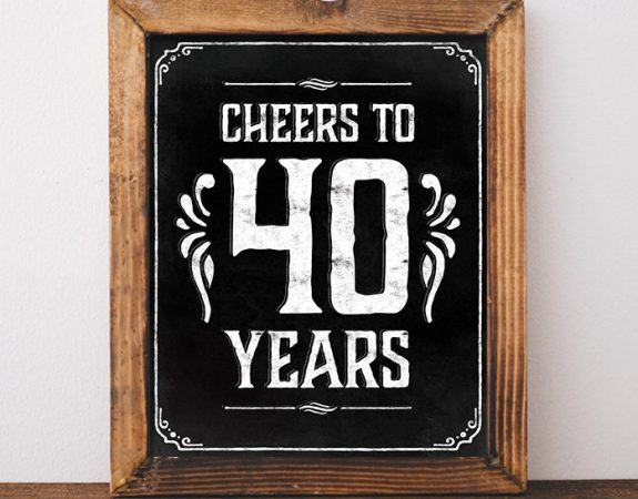 cheers to 40yrs